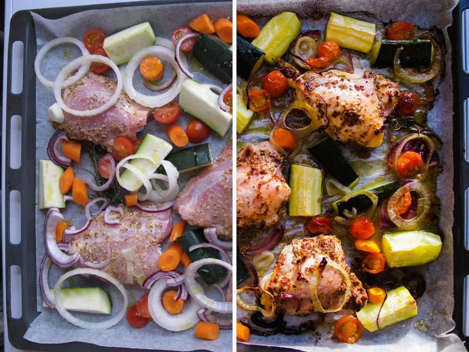 roasted mustard chicken_ before&after