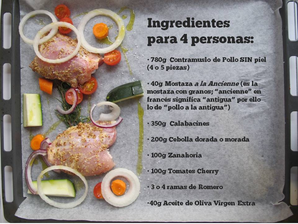roasted mustard chicken_ingredients, pollo mostaza_ingredientes