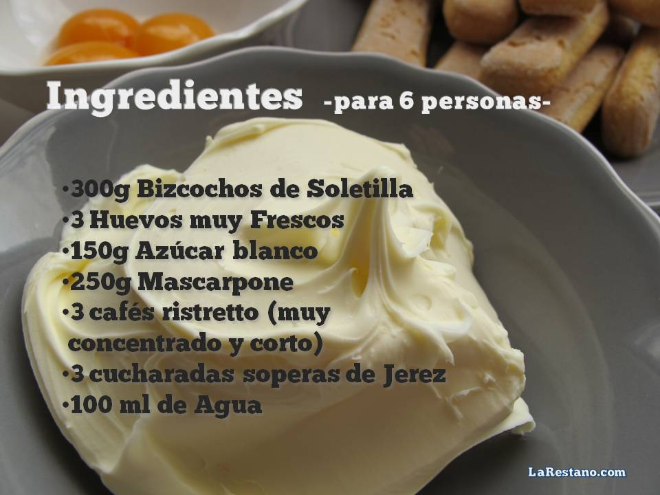 Receta Tiramisu_Ingredientes_LaRestano
